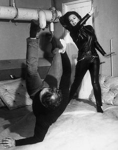 emma peel - the avengers -- I wanted to be Emma Peel, kicking butt and taking names