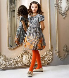 I love the new girls collection by quisquis designed by Stefano Cavalleri. This grey dress with orange sequins is stunning! See more about QuisQuis fall winter 2013 collection at http://www.dashinfashion.com/news/quisquis-stefano-cavalleri-fw13.html
