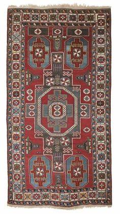 Caucasian-Konagend-rug  around 1900, ghiordes-knot 245*126 cm