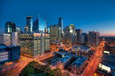 The Early Morning Light on the Downtown Minneapolis Skyline     Photos of Minneapolis