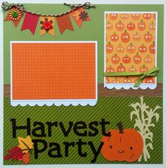 Harvest Party premade scrapbook page  12x12 by ohioscrapper