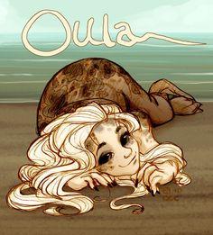 Oula on beach by *StressedJenny on deviantART