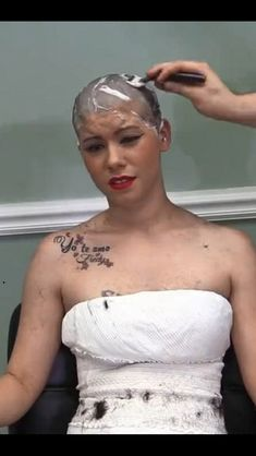 Removing every last remnant. Shaved Hair Women, Half Shaved Hair, Girl Short Hair, Short Hair Cuts, Short Hair Styles, Buzz Cut Hairstyles, Girl Hairstyles, Punishment Haircut, Tips