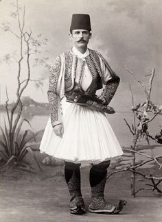 An Albanian in traditional costume c1900