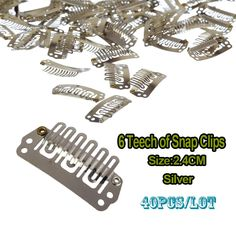 24mm Wig Clip U Clip Snap On Teeth Snap Clips With Silicone For Wig Hair Extension Weave Clips