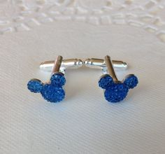 MOUSE EARS Cufflinks for Wedding Party in Dazzling by hairswirls1