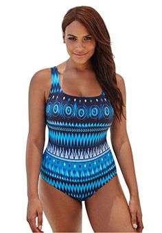 2fa5c2cb1bf Introducing Womens Plus Size Square Neck Swimsuit Tie Dye Stripe22. Get Your  Ladies Products Here