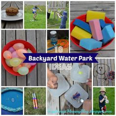 East Coast Mommy: 10 {Easy} DIY Backyard Water Park Ideas - Did this for Brayden's 4th birthday.  The kids loved everything!