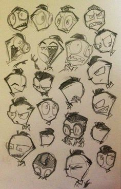 Perfectly normal human Zim faces