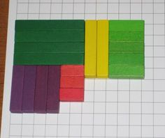 How Long How Many Game using Cuisenaire rods.  Student rolls 2 dice. The first die tells how long the rods they use will be.  The second die tells how many to use.  Lots of free hands-on ideas here!