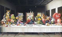 "Parody of the ""Last Supper"""