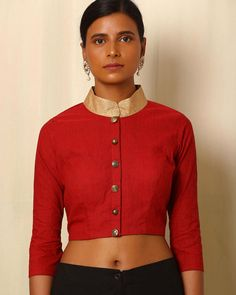 Handwoven South Cotton Collared Blouse
