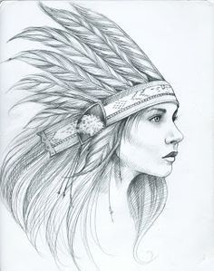 Pencil Drawings Native American Easy Sketch Drawing