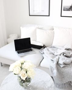 Living Room Interior, Home Living Room, Living Room Decor, Small Space Living, Living Spaces, Lets Stay Home, Nordic Style, White Decor, Cozy House