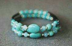 Bekijk dit items in mijn Etsy shop https://www.etsy.com/nl/listing/476771532/handgemaakte-memorywire-turquoise