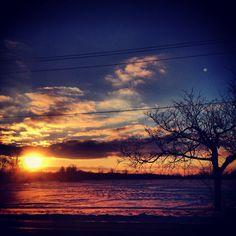 sunset, Akron, NY