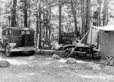 My grandparents drove a Model A to go car camping.