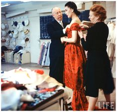 Fashion designer Christian Dior - Photo Loomis Dean,1957