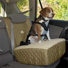 Browse our dog travel gear to find the best dog car seat cover, a travel bed or crate for your dog, and much more. Shop dog travel gear at Orvis today. Dog Seat, Dog Car Seats, Big Dogs, Large Dogs, Dog Car Accessories, Pet Shop Online, Booster Car Seat, Dog Safety, Dog Travel
