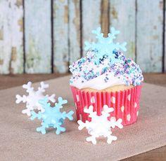 Frozen Snowflake Cupcake Rings