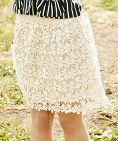 Lovely Floral Lace Skirt