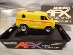 Aurora AFX Dodge Street Van #1748 HO Slot Car Original Box Magna Traction Yellow #Aurora #Dodge