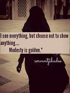 Modesty is the new black. :)