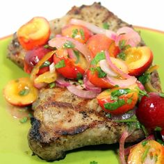 Inspired By eRecipeCards: Rainier Cherry Salsa for a Pork Chop - Grilling Time Condiment