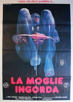 #goldenageofporn #porn #vintage #posters Le moglie ingorda