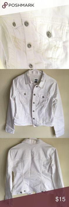 White Old navy jacket Never used old navy jacket. No defects. Old Navy Jackets & Coats Jean Jackets