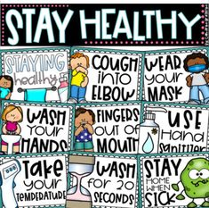 Use this set of posters to decorate and encourage safe and healthy choices around the classroom! This set includes 15 different posters and will look great on walls, bulletin boards, or anywhere else to remind students of their healthy choices. Just print, and hang! Use year after year!Included in t... Classroom Organization, Classroom Management, Classroom Setup, Future Classroom, Back To School Bulletin Boards, Music Bulletin Boards, Reading Bulletin Boards, Winter Bulletin Boards, School Nurse Office