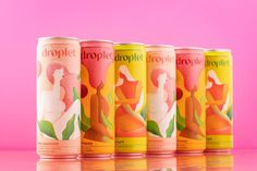 Droplet on Packaging of the World - Creative Package Design Gallery Plant Magic, Beverage Packaging, Feminine Energy, Packaging Design Inspiration, Superfoods, Fresh Fruit, Pillar Candles, Creative Package, Package Design