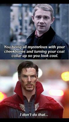 "catescorner:  ""Actually laughing out loud  ""  Cate's tags: #sherlock #doctor strange #so dramatic #benedict cumberbatch"
