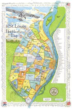 Welcome To BigStick, Inc. Louis Neighborhood Map - Larger View of Map St Louis Map, Miss Missouri, Tiny Horses, Southern Illinois, Historical Pictures, Old Pictures, The Neighbourhood, Outdoor Blanket, History
