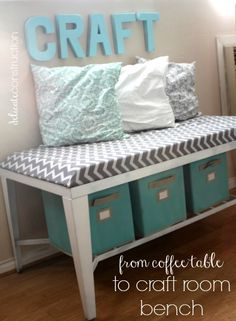 DIY Craft Room Bench - Delicate Construction