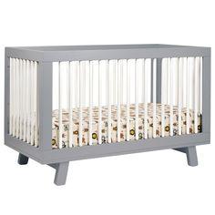 Babyletto Hudson Convertible Crib Grey & White