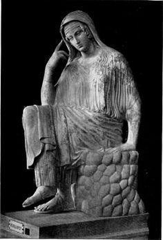 La Penelope Vaticana, marmo romano, copia di un'opera greca della prima metà del XVI secolo a.C., Roma, Musei Vaticani.