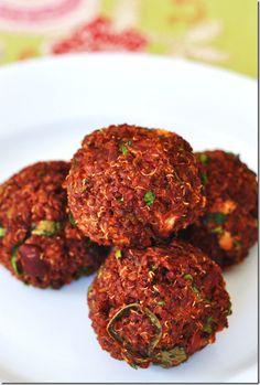 vegan quinoa meatballs