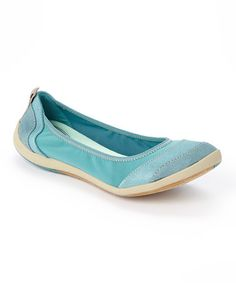 This Teal Illite Ballet Leather Flat by Clarks is perfect! #zulilyfinds