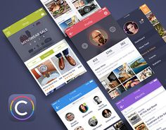 Coloristic #UI #Kit by UI Chest http://be.net/gallery/38779315/Coloristic-UI-Kit-by-UI-Chest