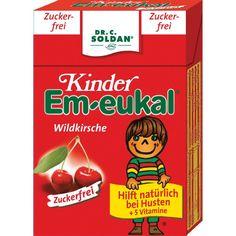 EM EUKAL Kinder Bonbons zuckerfrei Pocketbox:   Packungsinhalt: 40 g Bonbons PZN: 03166600 Hersteller: Dr. C. SOLDAN GmbH Preis: 0,96 EUR…