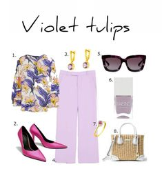 violet tulips Easter Brunch, Spring Colors, Tulips, What To Wear, Dress Up, Pattern, Inspiration, Outfits, Clothes