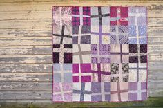 Wonky Cross Quilt by make_something, via Flickr. Lovely colors.