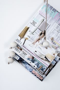 5 minute DIY: Wooden Bead Magazine Holder | Always Brainstorming