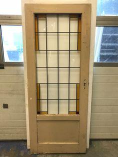 nr. gl326 jaren 30 glas in lood deur