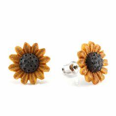 Sunflower MAKERPin Stud #Handmade #Stud