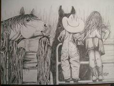 pencil art by K Galligar