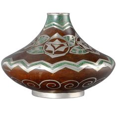 Gaston Bigard Art Deco Dinanderie Circa 1930 | From a unique collection of antique and modern vases at http://www.1stdibs.com/furniture/dining-entertaining/vases/