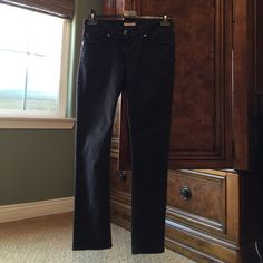 Black Jeans BURBERRY BRIT black jeans, Size 27, worn in good condition,67% Cotton 33% Polyester Burberry Brit Pants Trousers