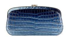blue-faded alligator chanel clutch  resort 2013 - 2014